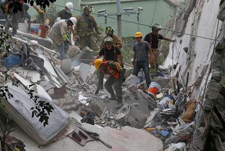 O terremoto de 7 de setembro provocou grandes danos em edifícios no sul do México e na Guatemala