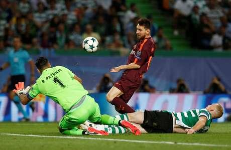 Messi em ação contra o Sporting