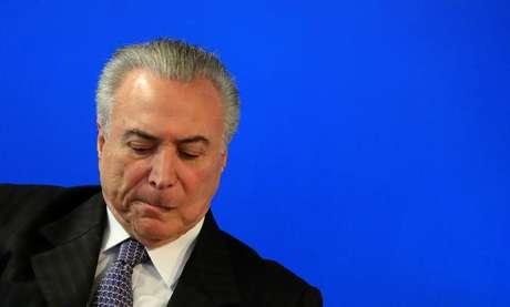 Presidente Michel Temer durante cerimônia, em São Paulo 08/08/2017 REUTERS/Leonardo Benassatto