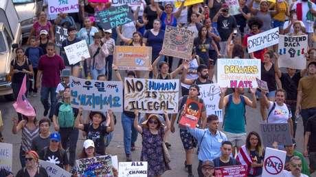 Plano do governo americano de extinguir o Daca levou a uma série de protestos no país