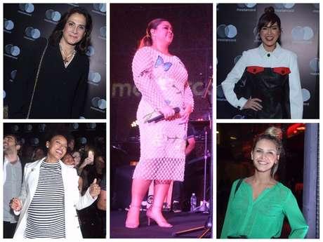 Looks das famosas no show de Gilberto e Preta Gil (Fotos: AgNews)