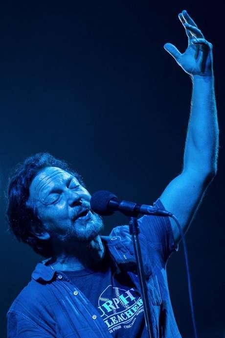 Eddie Vedder, do Pearl Jam, uma das bandas principais do Lollapalooza 2018