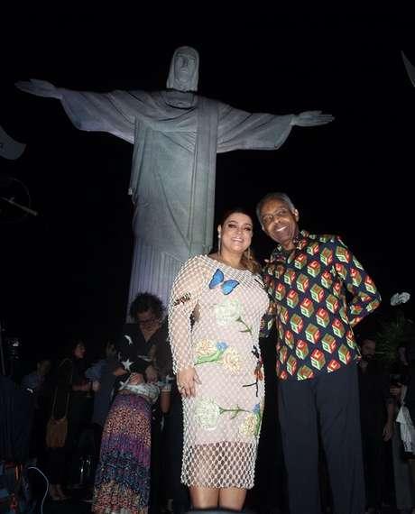 Preta e Gilberto Gil se apresentaram aos pés do Cristo Redentor (Foto: AgNews)