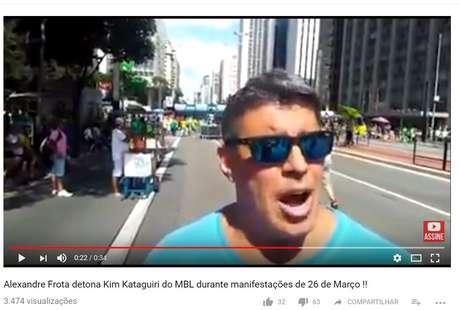Alexandre Frota em manifestação na avenida Paulista