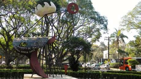 Escultura de Federico Garcia Lorca