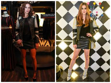 Bruna e Marina usam jaquetas iguais