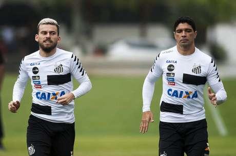Lucas Lima e Renato devem retornar ao time contra a Ponte Preta (Foto: Ivan Storti/Santos)