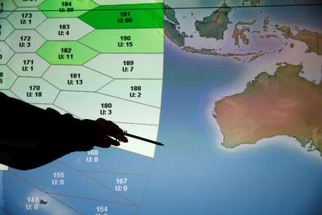 Equipes de resgates mapearam uma área de 120 mil Km² no Oceano Índico