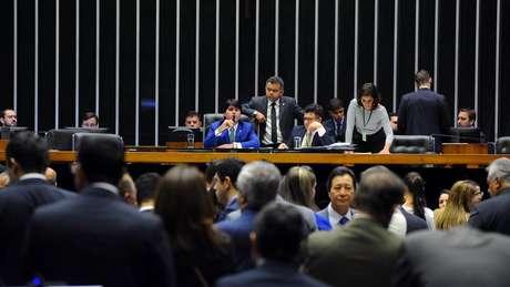 Deputados federais em votação na Câmara