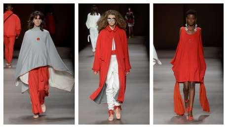 Vermelho marcou a coleção da Molett (Fotos: Francisco Cepeda/AgNews)