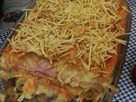 Lasanha de purê de batatas