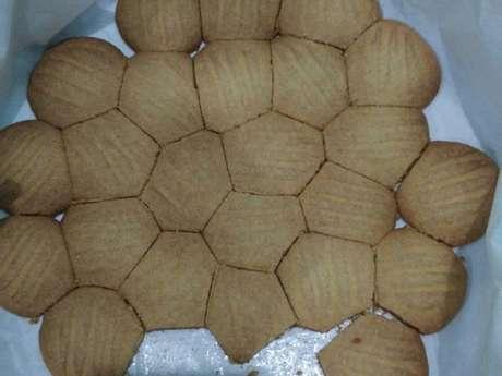 Biscoitos crocantes amanteigados