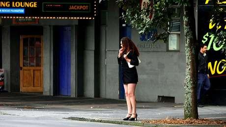 Prostituta em Auckland, na Nova Zelândia