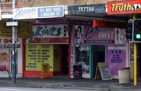 Adult shops and Massage parlours on Auckland's Karangahape Road