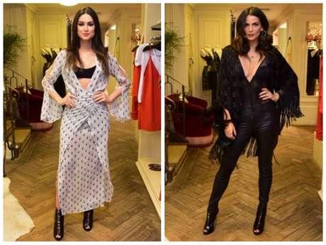 Looks sensuais de Thaila Ayala e Fernanda Motta (Fotos: Leo Franco/AgNews)