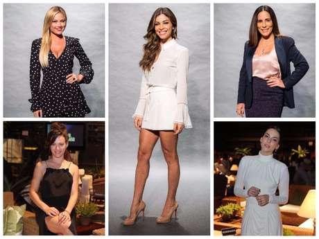 Looks das famosas em evento da novela (Fotos: AgNews - TV Globo/Divulgação)