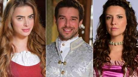 Rayanne Morais (Pietra), Bernardo Velasco (Enrico) e Camila Rodrigues (Carmona), protagonistas de 'Belaventura': trama medieval ainda não conquistou os noveleiros.