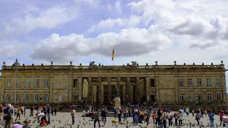 Congresso colombiano, no centro histórico de Bogotá
