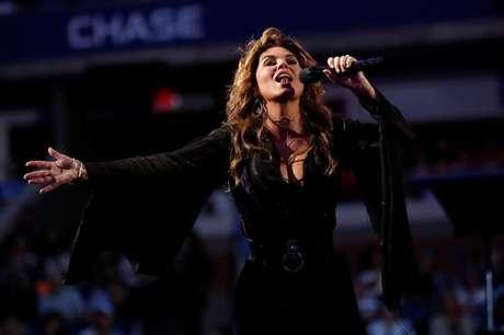 Shania Twain canta no Aberto dos EUA  28/8/2017   REUTERS/Shannon Stapleton