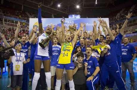 SESC RJ é o atual campeão da Superliga feminina (Foto: Marcio Rodrigues/MPIX)