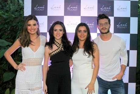 Camila Queiroz, Isabelle Drummond, Mariana Fernandes e Klebber Toledo (Foto: Daniel Delmiro/AgNews)