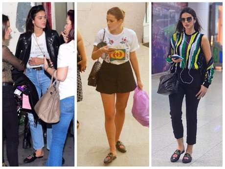 Calçado Gucci da Bruna Marquezine (Fotos: AgNews)