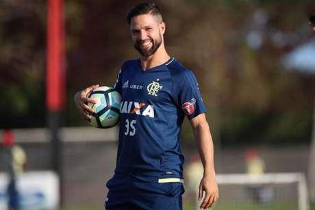 Diego se recupera de lesão muscular na coxa direita (Gilvan de Souza / Flamengo)