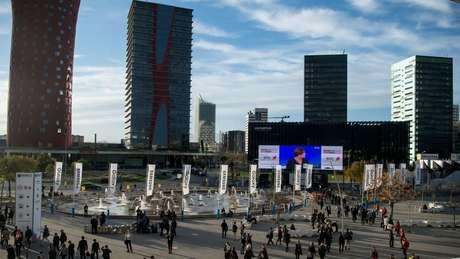 Congresso de telefonia em Barcelona