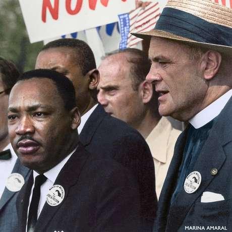 Marthin Luther King Jr. marcha pelos direitos civis de negros em Washington
