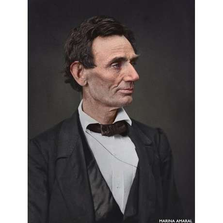Retrato do ex-presidente americano Abraham Lincoln