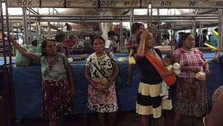 Os índios Warao começaram a desembarcar em Belém em julho