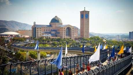 Basílica hoje ocupa uma área de 72 mil m² | Foto: Governo do Estado-SP
