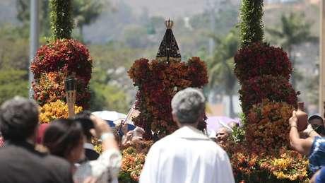 Segundo Santuário Nacional de Aparecida, imagem exposta na Basílica é a mesma encontrada nas águas turvas do Paraíba do Sul | Foto: Oswaldo Corneti/ Fotos Publicas