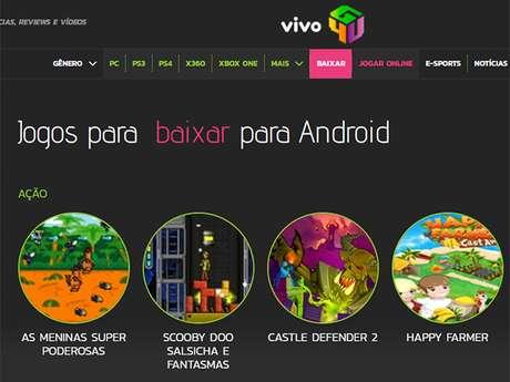 O Vivo Games4U tem mais de 300 jogos para baixar e jogar online, reviews e análises de Youtubers consagrados