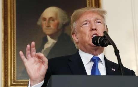 Trump faz discurso na Casa Branca  13/10/2017    REUTERS/Kevin Lamarque