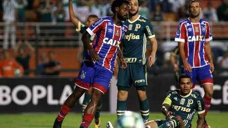 Palmeiras abriu 2 a 0 no primeiro tempo e cedeu o empate no fim da segunda etapa (Foto: Luis Moura / WPP)