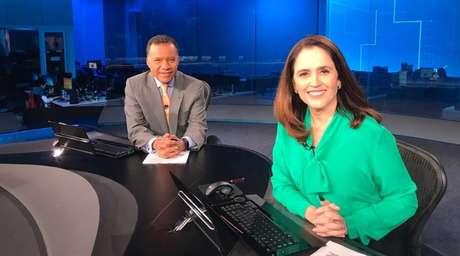 Ana Luiza Guimarães com Heraldo Pereira: apresentadora está há quase 30 anos na Globo