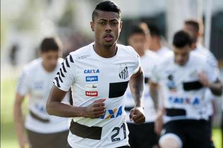 Bruno Henrique se queixou de dores após empate com a Ponte Preta (Foto: Ivan Storti/Santos)