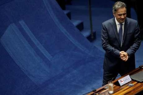 Senador Aécio Neves no Senado, em Brasília 04/07/2017 REUTERS/Ueslei Marcelino
