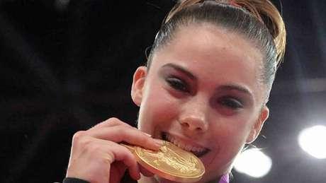McKayla Maroney conquistou duas medalhas nos Jogos de Londres-2012 (Foto: BEN STANSALL / AFP)