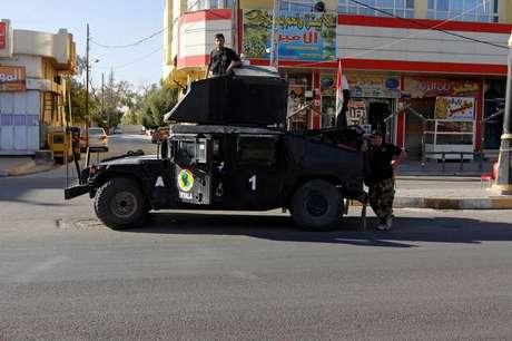 Veículo da polícia do Iraque é visto em Kirkuk  19/10/2017     REUTERS/Ako Rasheed
