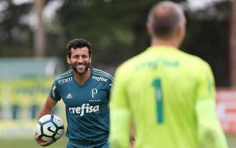 Alberto Valentim durante o treino deste sábado - FOTO: Cesar Greco