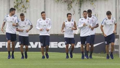 Corinthians não deve ter mudanças para enfrentar o Botafogo (Foto: Daniel Augusto Jr/Ag. Corinthians)