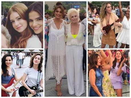 Looks das famosas em gravação de fim de ano (Fotos: Instagram/Reprodução)