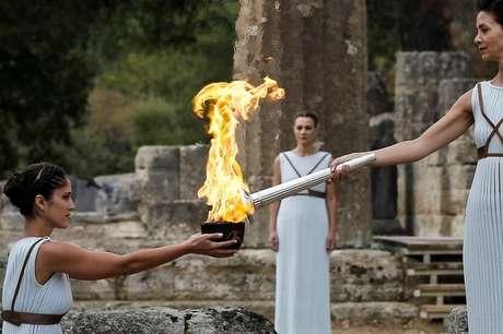 Cerimônia para acender chama da Olimpíada de Inverno de Pyeongchang 2018, em Olímpia, na Grécia 24/10/2017 REUTERS/Alkis Konstantinidis