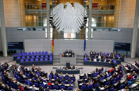 O plenário do Bundestag