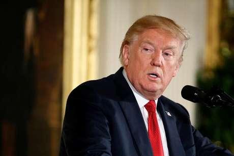 Trump durante evento na Casa Branca  23/10/2017   REUTERS/Joshua Roberts