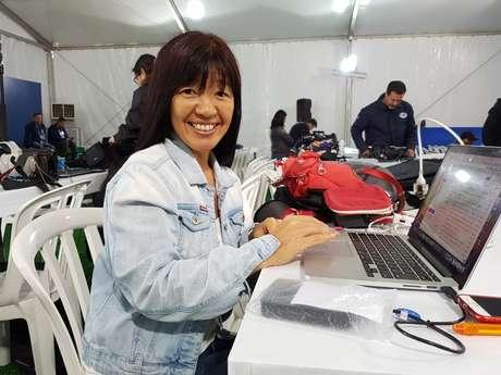 Kiyomi Nakamura acompanha a Seleção Brasileira desde em viagens ao exterior até em treinamentos na Granja Comary, no Rio.