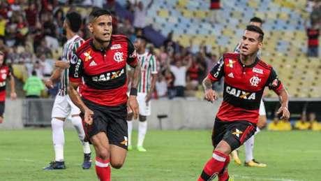 Everton foi o autor do gol do Flamengo sobre o Fluminense nesta quarta-feira (Foto: Antonio Marcos)