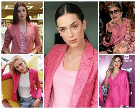 Famosas com blazer rosa (Fotos: AgNews/Divulgação/Reprodução)